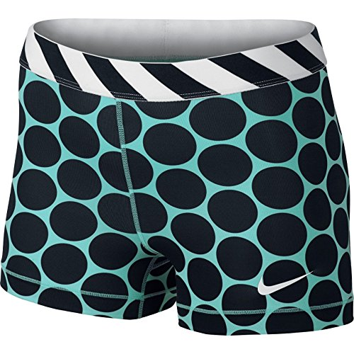 "NIKE Women's Dri Fit 3"" Big Dot Pro Compression Short Green Black, M, 705313 466"