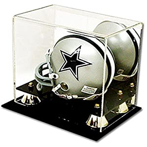 DELUXE UV PROTECTED MINI FOOTBALL HELMET DISPLAY CASE