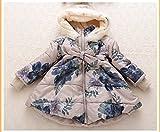 MINEKA 女の子 冬 コート アウター ベンチコート ネイビー /ベージュ90~130cm ファー付き外す可 (3T, G.DY.0101021/ベージュ)