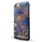 iPhone 6s case,Lizimandu TPU 3d pattern Case for iPhone 6s case(Blue Flower)