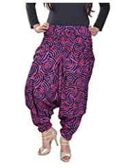 Soundarya Women's Regular Fit Harem Pants (AP6, Maroon)