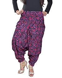 Soundarya Women's Regular Fit Harem Pants (AP6, Maroon)