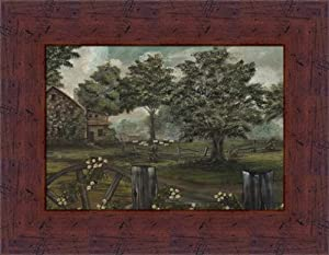 Blackstone Cottage by Aleta Blackstone Americana Country Landscape Framed Art Print Wall Decor