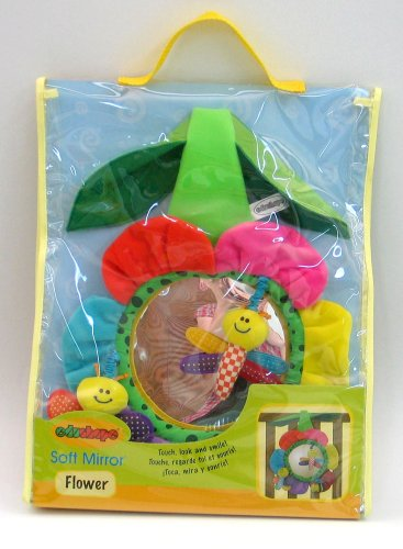 Edushape Flower Shaped Soft Mirror Crib Toy - 1