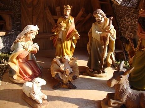 Btv premium set de 12 figuras de bel n 15 cm pintadas for Amazon figuras belen