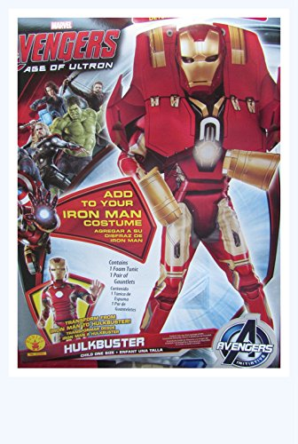[Avengers Hulkbuster Costume Size 6+ w/ Mask] (Hulkbuster Costume For Kids)