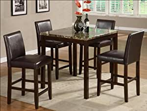 5PC ANISE COUNTER HEIGHT DINING SET Table Chair Sets