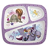 Zak! Designs 3-Section Plate featuring Sofia the First, Break-resistant and BPA-free Plastic