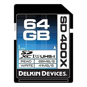 Delkin 64GB 400X SDXC UHS-I Memory Card (DDSD400-64GB)