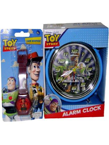 New Toy Story Alarm Clock Bonus LCD Watch