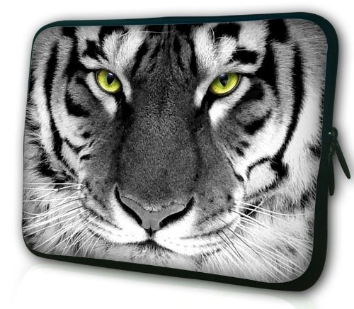 Waterfly? Tiger Monarch 14 14.1 14.4 14.5 Inch Laptop Notebook Computer PC Sleeve Carrying Bag Cause Pouch Protetor Cover Holder for Sony Vaio E / HP Covet / Dell Alienware / Dell Latitude D630 Dell Latitude D620 And Most 14 14.1 14.4 Inch Laptop U