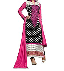 Look Smart Women's Women'S Salwar Suit (HEENARI BLACK_Multicolor_)