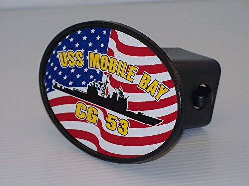 USS MOBILE BAY CG 53 Hitch Cover for 2