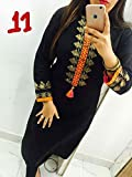 Filmlion-Black-Georgette-Embroidery-Work-Selfie-Kurti