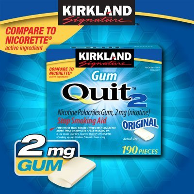 Kirkland Signaturetm Quit2Tm Original Flavor 2 X 190 Pieces Nicotine Polacrilex Gum, 2 Mg (Nicotine) Personal Healthcare / Health Care