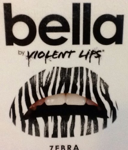 Bella By Violent Lips ~ Temporary Lip Appliqués ~ Zebra ~ Lip Tattoos