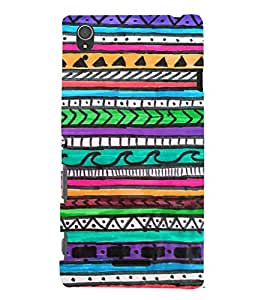 EPICCASE crayon drawings Mobile Back Case Cover For Sony Xperia T3 (Designer Case)