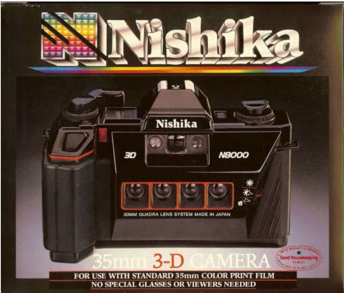 Top Quality Nishika N8000 35mm 3-D Camera Quadra Lens System By NISHIKA