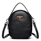 Toniker Genuine Leather Small Crossbody Bag Multi-Pockets Bee Series Cell Phone Purse Wallet for Women