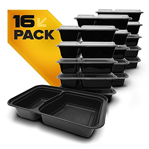 save 30 fitpacker duo usa made meal prep containers 16 pack 2 compartment bento lunch boxes. Black Bedroom Furniture Sets. Home Design Ideas