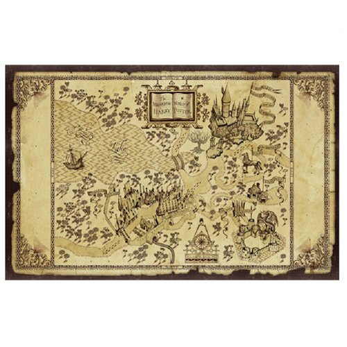 Harry Potter Hogwarts Map Canvas Painting - Currently unavailable.