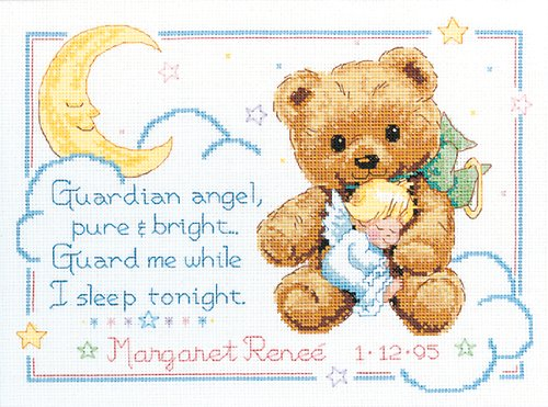 Dimensions Needlecrafts Counted Cross Stitch, Cuddly Bear Birth Record front-436699