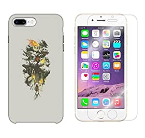 Snoogg Samurai Entereing Jungle Combo Designer Protective Back & Shatter Proof Tempered Glass For APPLE IPHONE 7 PLUS