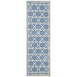 Safavieh Courtyard Collection CY6916-243 Blue and Beige Indoor/ Outdoor Runner, 2 feet 3 inches by 8 feet (2\'3\