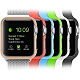 [6 Color Pack] Apple Watch Case, Fintie [Ultra-Slim] Lightweight Premium Polycarbonate Hard Protective Bumper Cover for Apple Watch(2015) - Retail Packaging, 38 mm