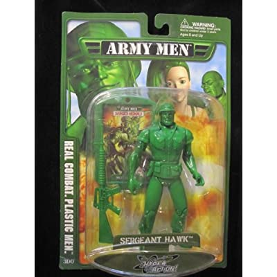 com: Sergeant Hawk Army Men 3DO 8 Inch Action Figure includes Dog Tag