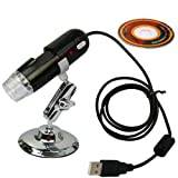 USB Digital Microscope with Stand Card Reader (Up to 2.0 Mega Pixel Video Camera 200x 1280x1024 Capture Resolution)