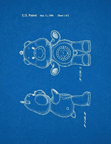 "Care Bear Toy Bear Figure Patent Art Blueprint Poster (24"" X 36"") front-1051289"