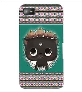 PrintDhaba Kitty D-3685 Back Case Cover for BLACKBERRY Z10 (Multi-Coloured)