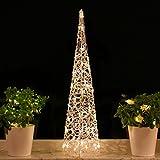 Weihnachtspyramide 90cm LED Pyramide Warm-weiß...