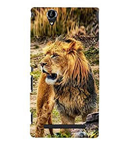 Roaring Fierce Lion 3D Hard Polycarbonate Designer Back Case Cover for Sony Xperia T2 Ultra :: Sony Xperia T2 Ultra Dual SIM D5322 :: Sony Xperia T2 Ultra XM50h