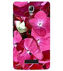 PrintDhaba Flowers D-2157 Back Case Cover for LENOVO A2010 (Multi-Coloured)