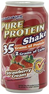 Pure Protein Ready to Drink Shake 35 Grams Protein, Strawberry Creme (Pack of 12)
