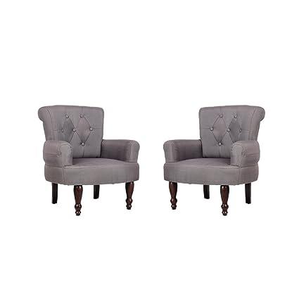 Lot de 2 fauteuils Newton gris - CASASMART