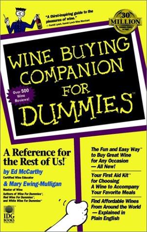 Wine Buying Companion for Dummies, ED MCCARTHY, MARY EWING-MULLIGAN