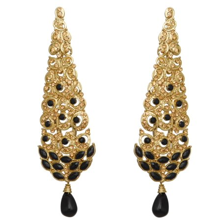 Designer Peacock Danglers/ Earrings - Epoxy Stones