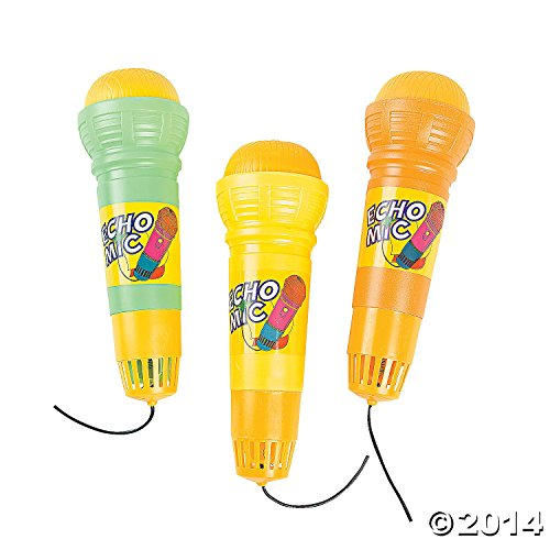 Plastic Echo Microphones Party Favor Dozen