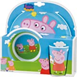 Acquista Bbs 123175 - Peppa Pig Mealtime Set, 3 Pezzi in Melammina