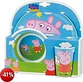 Bbs 123175 - Peppa Pig Mealtime Set, 3 Pezzi in Melammina