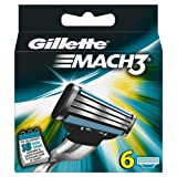Pack of 6 Gillette razor blades Mach 3