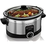 Hamilton Beach 33565C 6-Quart Slow Cooker, Stainless Steel