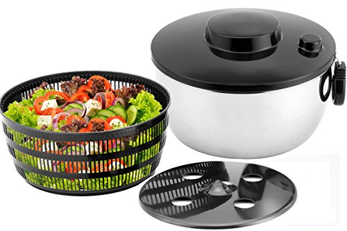 Seacoo Stainless Steel Salad Spinner,Large Bowl,Applies Vegetable,Fruits and Lettuce.Dishwasher Safe (Washer And Dryer Second Hand compare prices)