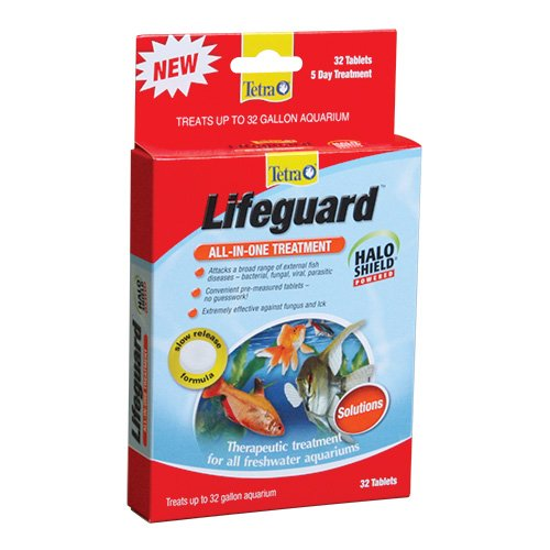 Tetra lifeguard all in one freshwater aquarium treatment for Ick in fish tank
