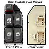 APDTY 012134 Master Power Window Switch Front Left Driver-Side Fits 1997-1999 Pontiac Bonneville / 1995-2005 Pontiac Sunfire / 1997-2003 Pontiac Grand Prix / 2000-2005 Chevy Cavalier / ; 4-Door Models; 5-Button (Replaces 10290244, 19208647, 22652691)