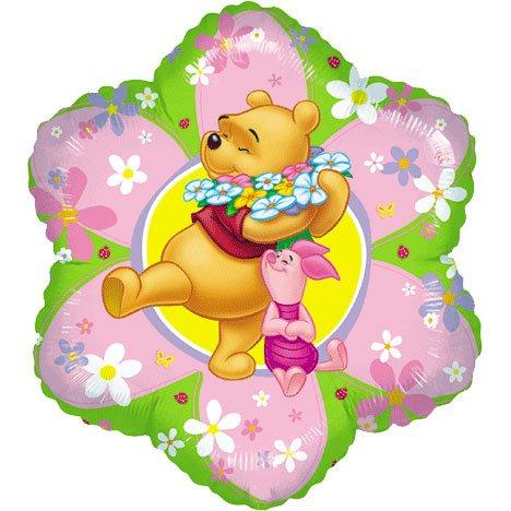 18 Inch Winnie The Pooh Friendly Flower Balloon