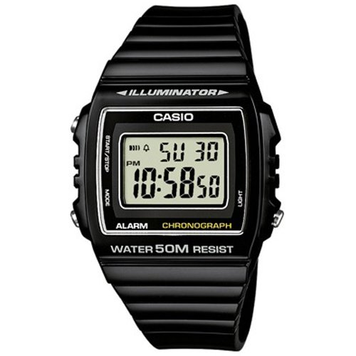 Casio Unisex Quartz Watch digital  Display and Resin Strap W-215H-1AVEF